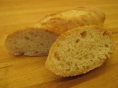 Baked French baguette