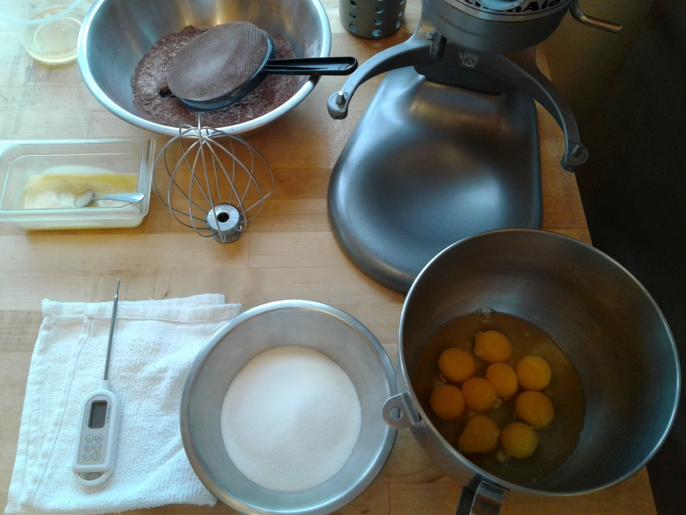 Mise en place for Genoise