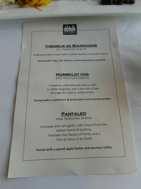 Cheese menu